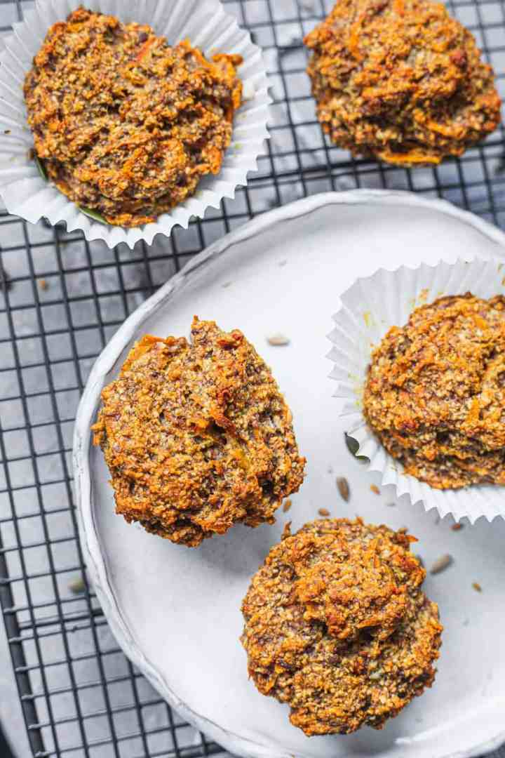 Dairy-free muffins with carrot