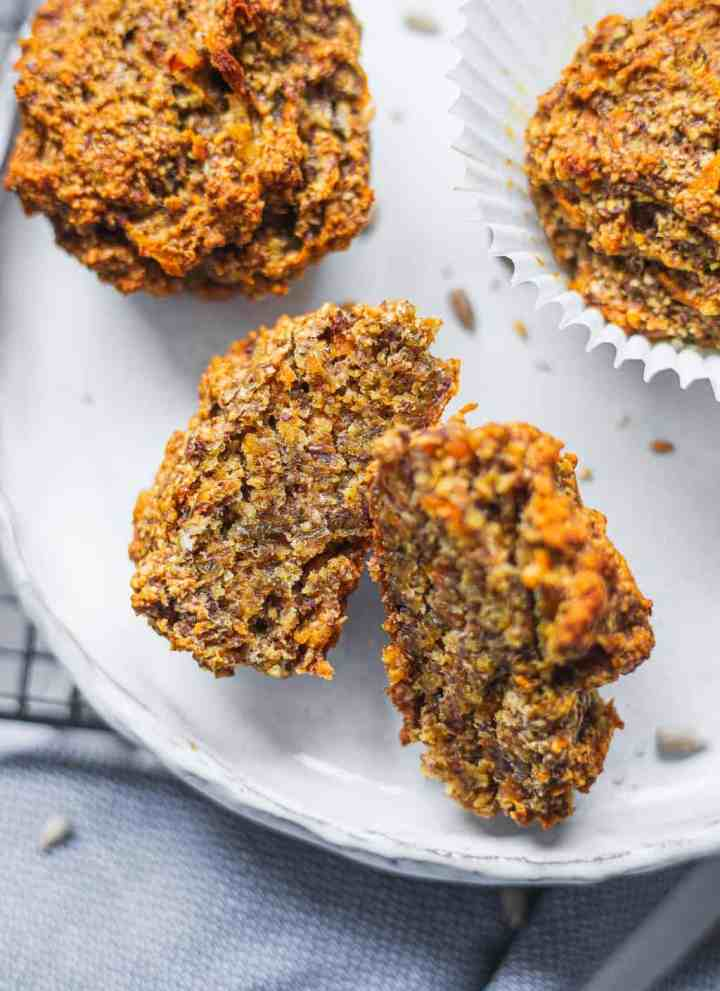 Vegan carrot muffins gluten-free