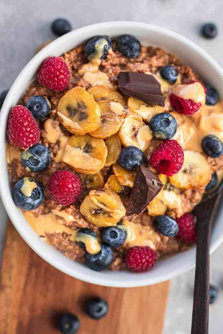 Vegan chocolate coconut oatmeal gluten-free