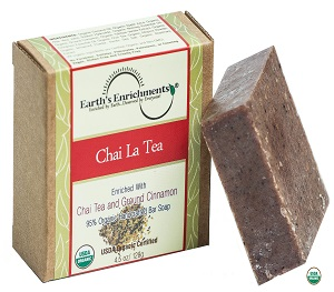 Certified Organic Soap (USDA) - Chai La Tea