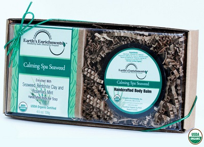 Calming Spa Seaweed Organic Bar Soap and Body Balm