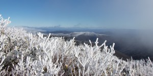 Winter view in North Carolina mountains