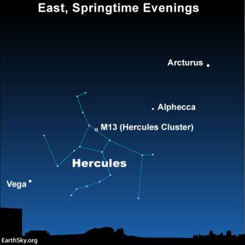 Find Hercules between 2 bright stars | Tonight | EarthSky