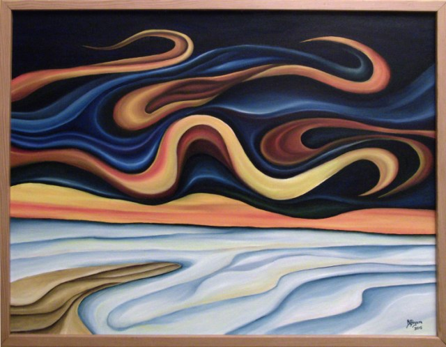 """Winter Solstice at White Sands"" 20 x 26 Oil on Canvas © 2015 JayB"