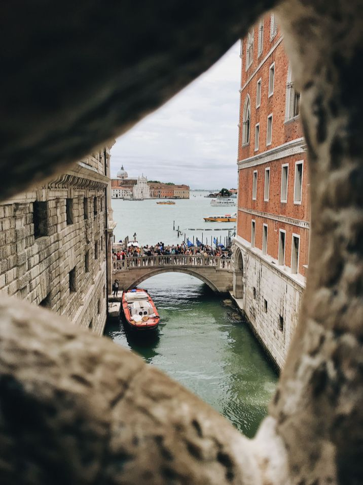 Places to visit in Venice - bridge of sighs