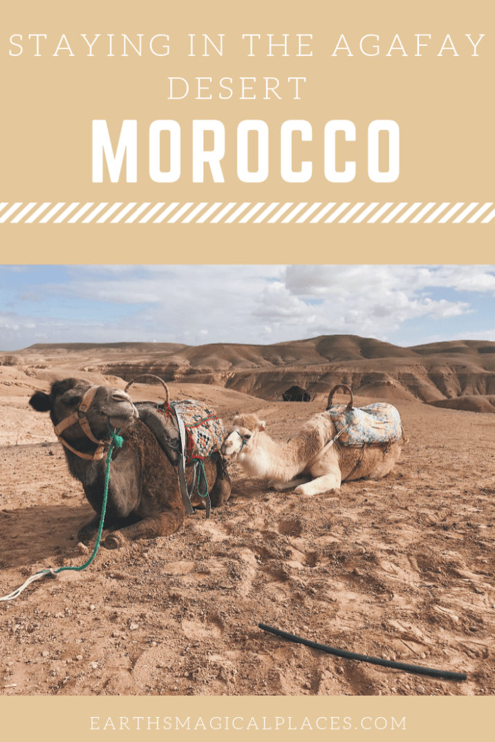 One of the top things do to from Marrakech is travel to the beautiful Agafay Desert, just one of the deserts in Morocco. Here there's much to do, so why not stay the night in an Agafay Desert Luxury camp! #Desert #AgafayDesert #Morocco #Marrakech