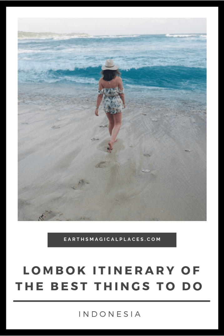 Lombok Indonesia is filled with amazing things to do, from a visit to its pink beach, Rinjani volcano and amazing food/waterfalls, Lombok Indonesia island is the perfect place for a day trip from the Gili Islands #Lombok #Indonesia #thingstodo #beach #Rinjani