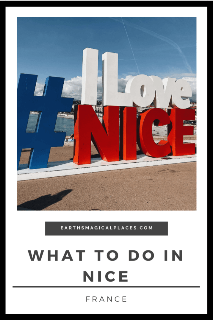 The ultimate guide to what to do in Nice France when visiting the French Riveria in October (winter). Such as things to do in the old town, promenade, and castle hill. Discover all the travel tips you need to add Nice France to your Bucket list #Nice #France #Travel