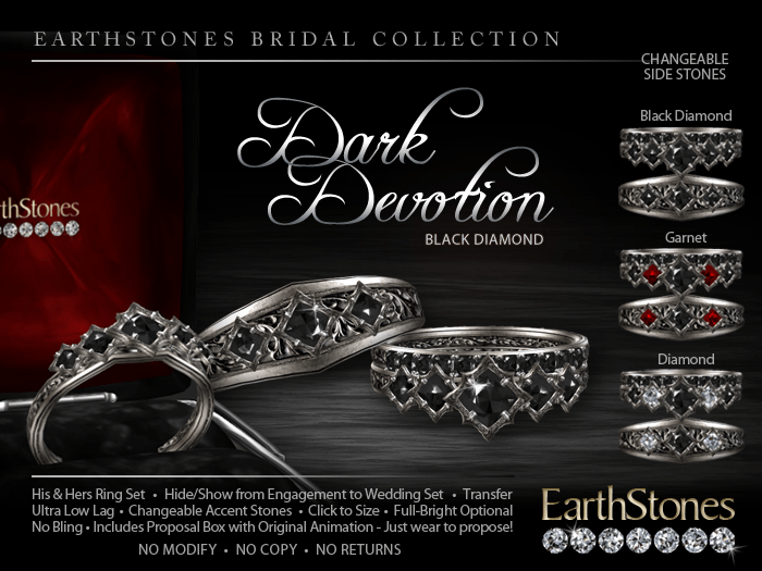 Devotion Amp Dark Devotion Wedding Rings EarthStones