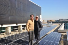 Herb Stevens Jeffrey Lesk at solar array 225x150 Sustainable Cities