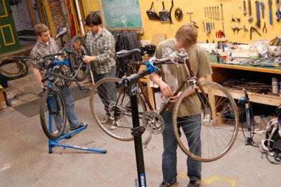 bikeshop sml 400x267 Green Colleges Encourage Sustainability On Campus & Beyond