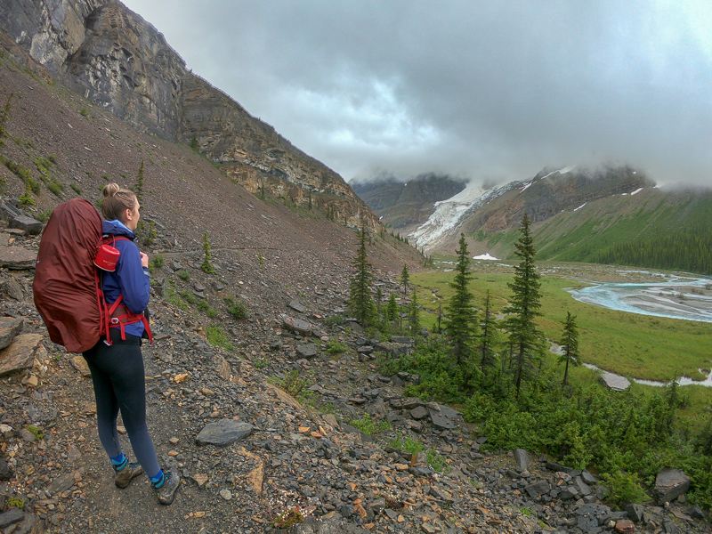 The view of your trail as you leave Emperor Falls campground!