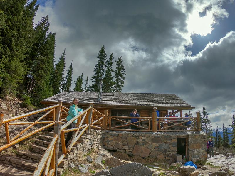 The Lake Agnes Tea House on a Sunny Afternoon!
