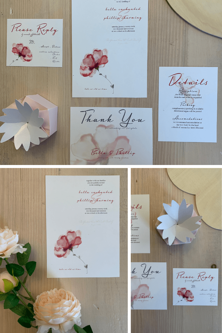 The Tale As Old As Time Wedding Invitation - Perfect for Spring Wedding Invitation, Fairytale Wedding Invitation, Castle Wedding Invitation!