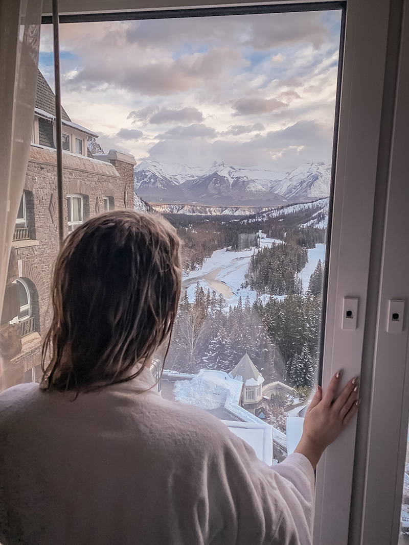 View from the junior suite at the Banff Springs Hotel!