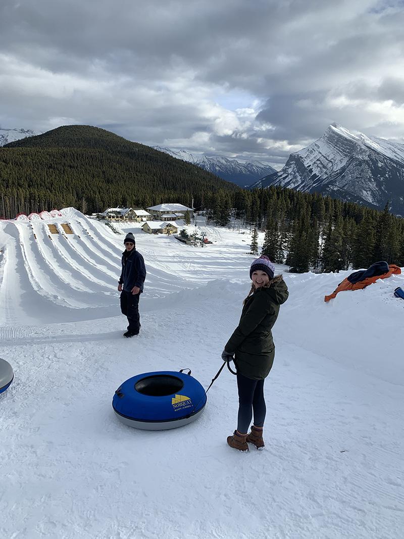 Snow Tubing in Banff!