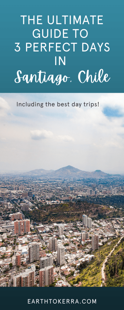Santiago Chile from above with Text overlay