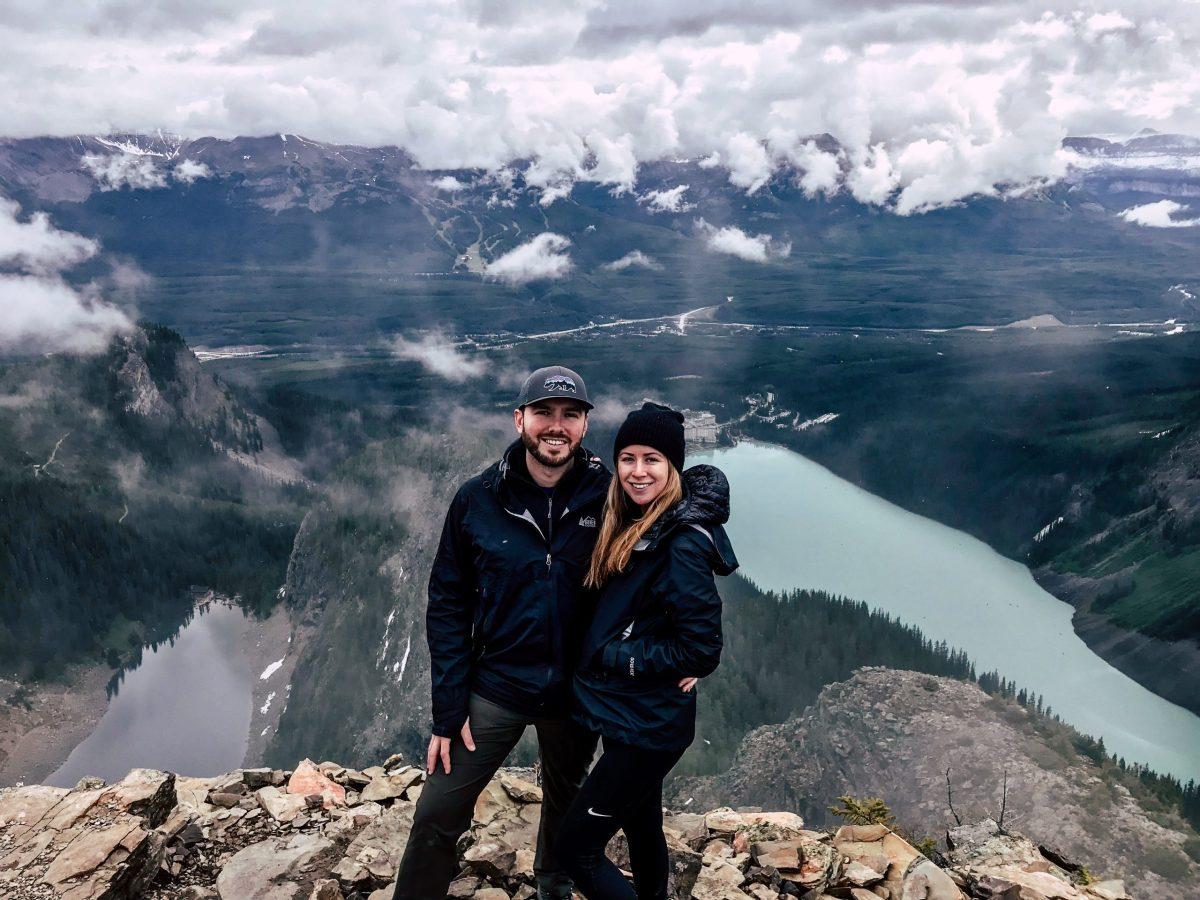 Devils Thumb peak Lake Louise below Best Hikes in Banff