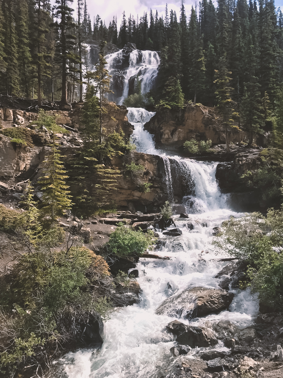 Icefields Parkway waterfall Canada