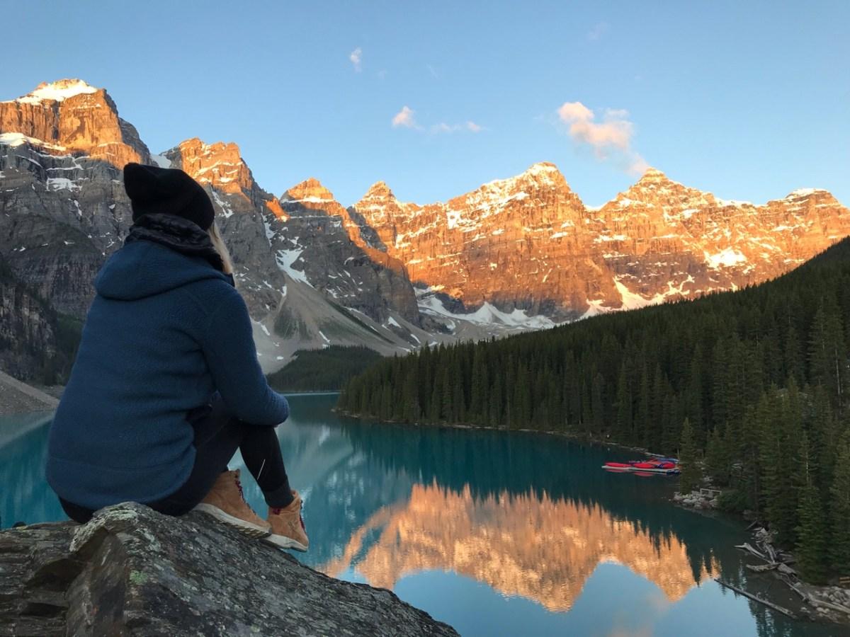 Sunrise at Moraine Lake Banff National Park Canada