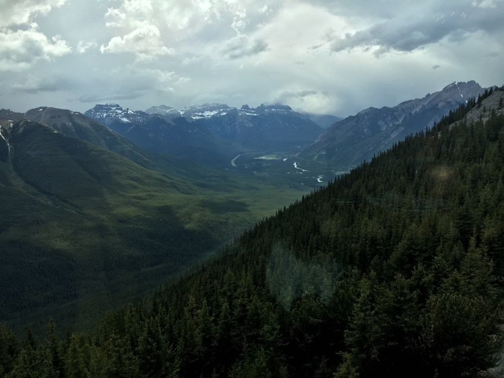 View from Sky Bistro Banff National Park Canada