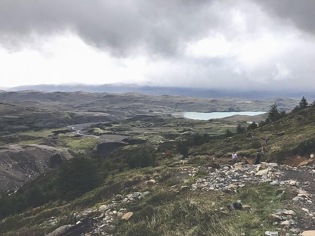 overlooking the flatlands in Torres del Paine