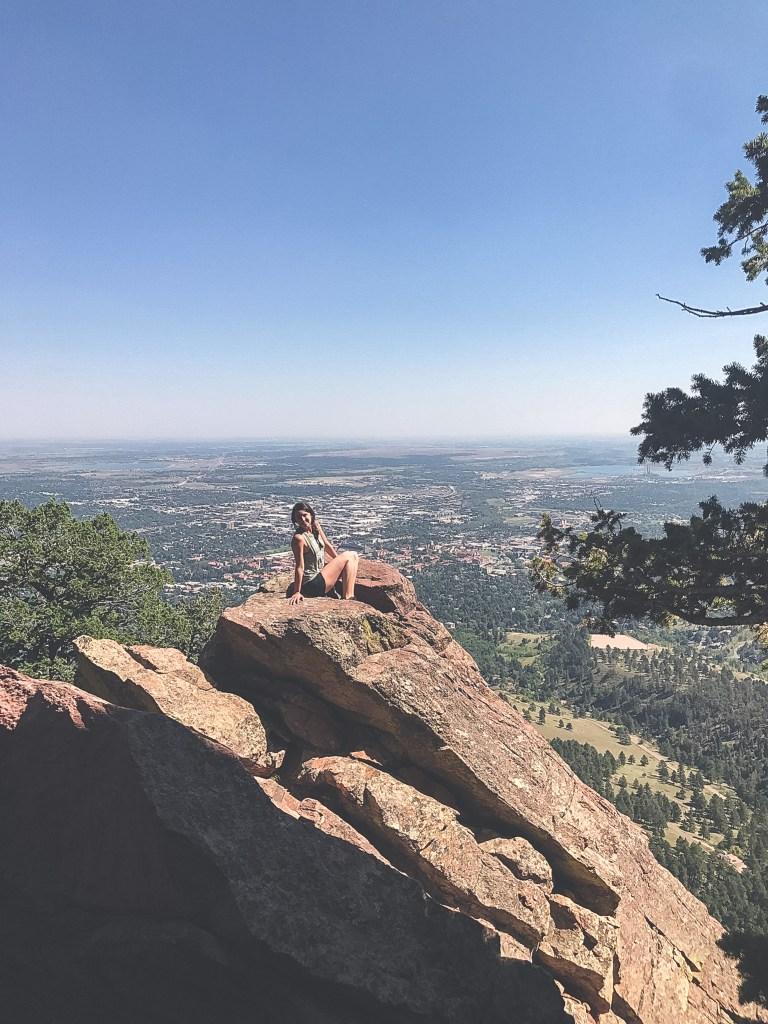 Top of Flatirons in Boulder