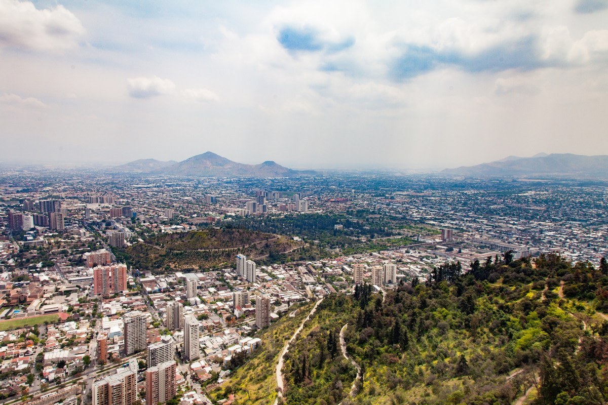 View of Santiago Chile from Above