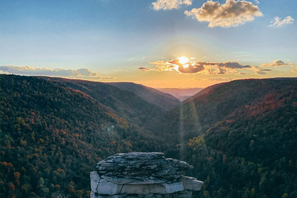 Lindy Point Sunset Best places to visit in West Virginia