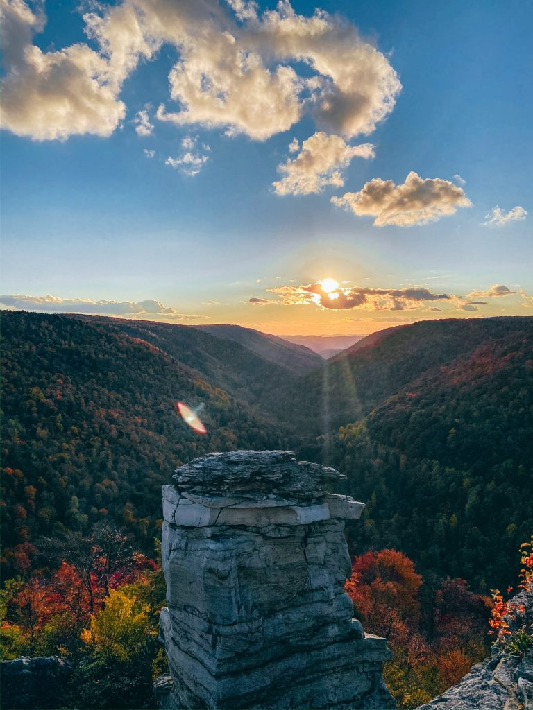 Sunset at Lindy Point Blackwater Falls State Park in the Fall