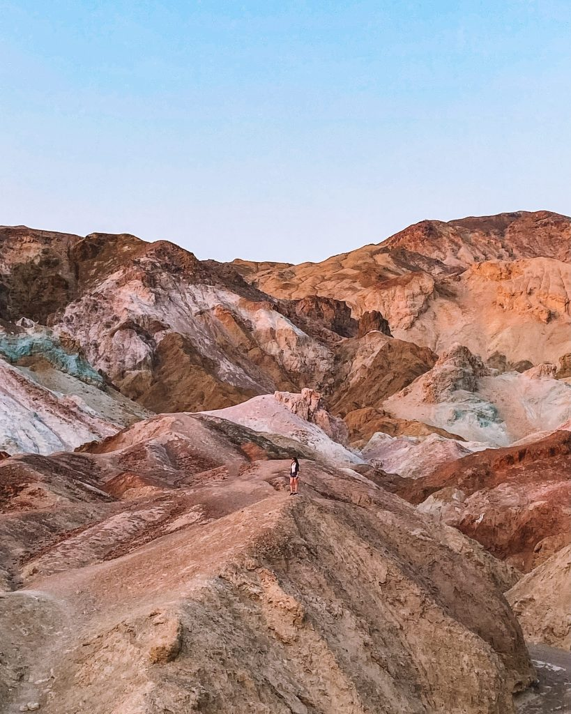 Artists Palette at Sunset in Death Valley National Park