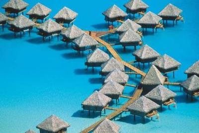 Bungalows At Bora Bora Island   Earthtravelers - Things to ...