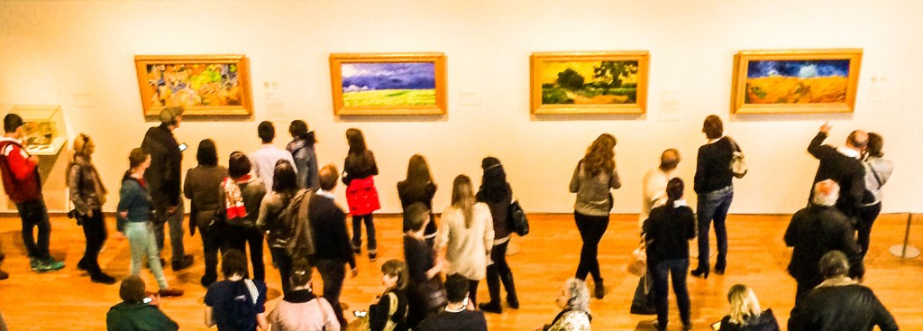 Picture of inside of Van Gogh museum.