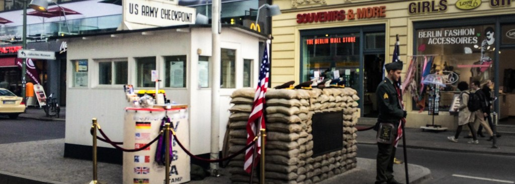 Picture of the Checkpoint Charlie booth.