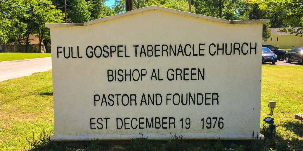 Picture of the sign in front of the church.