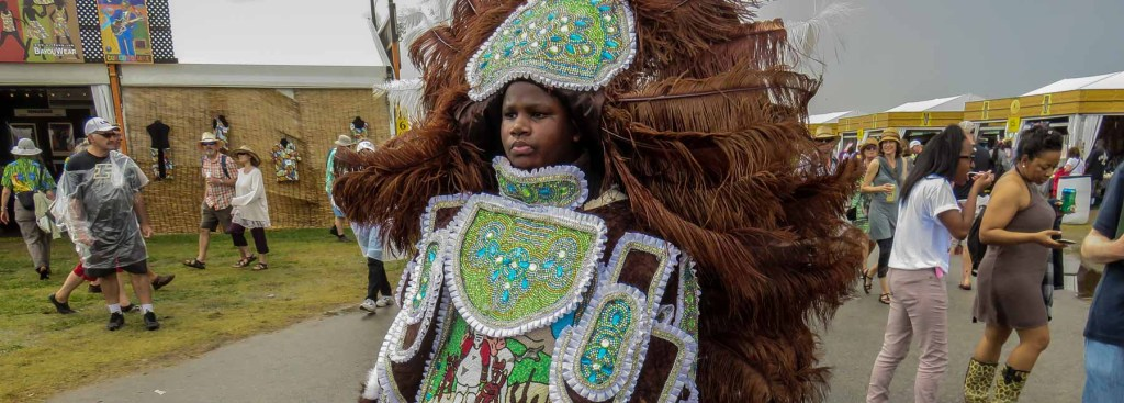 Picture of a girl dressed in feather costume.