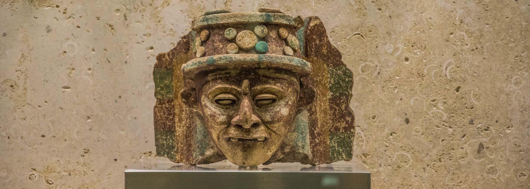 A Mayan death mask.
