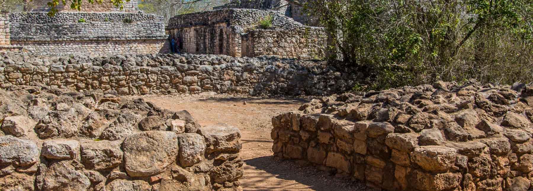 Walls at the Ek Balam ruins.