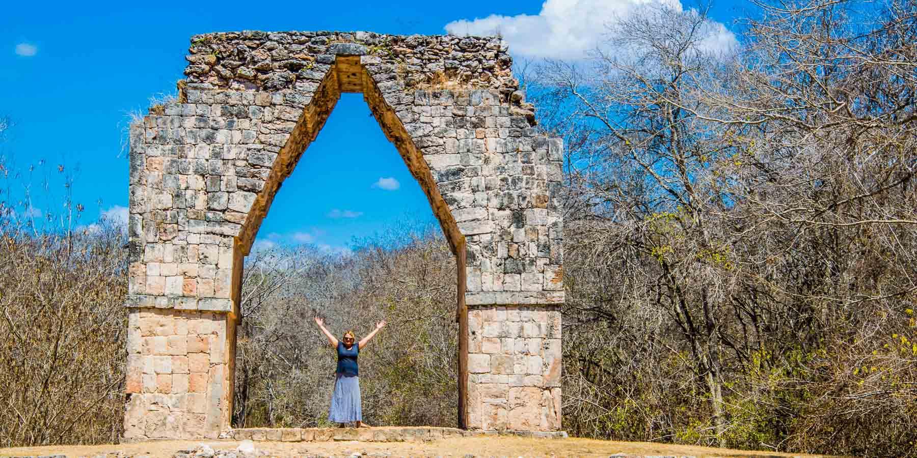 Arch for Mayan ruin at Kabah.