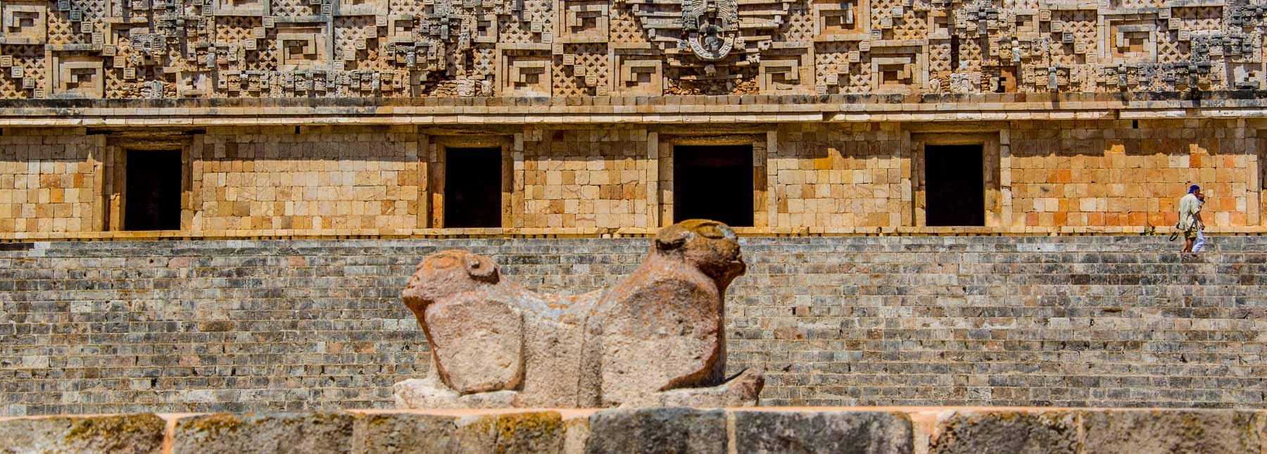 The Jaguar Throne at the Mayan ruin of Uxmal.