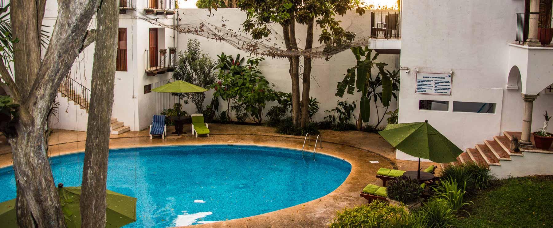 The pool at hotel El Mesón del Marqués in Valladolid.