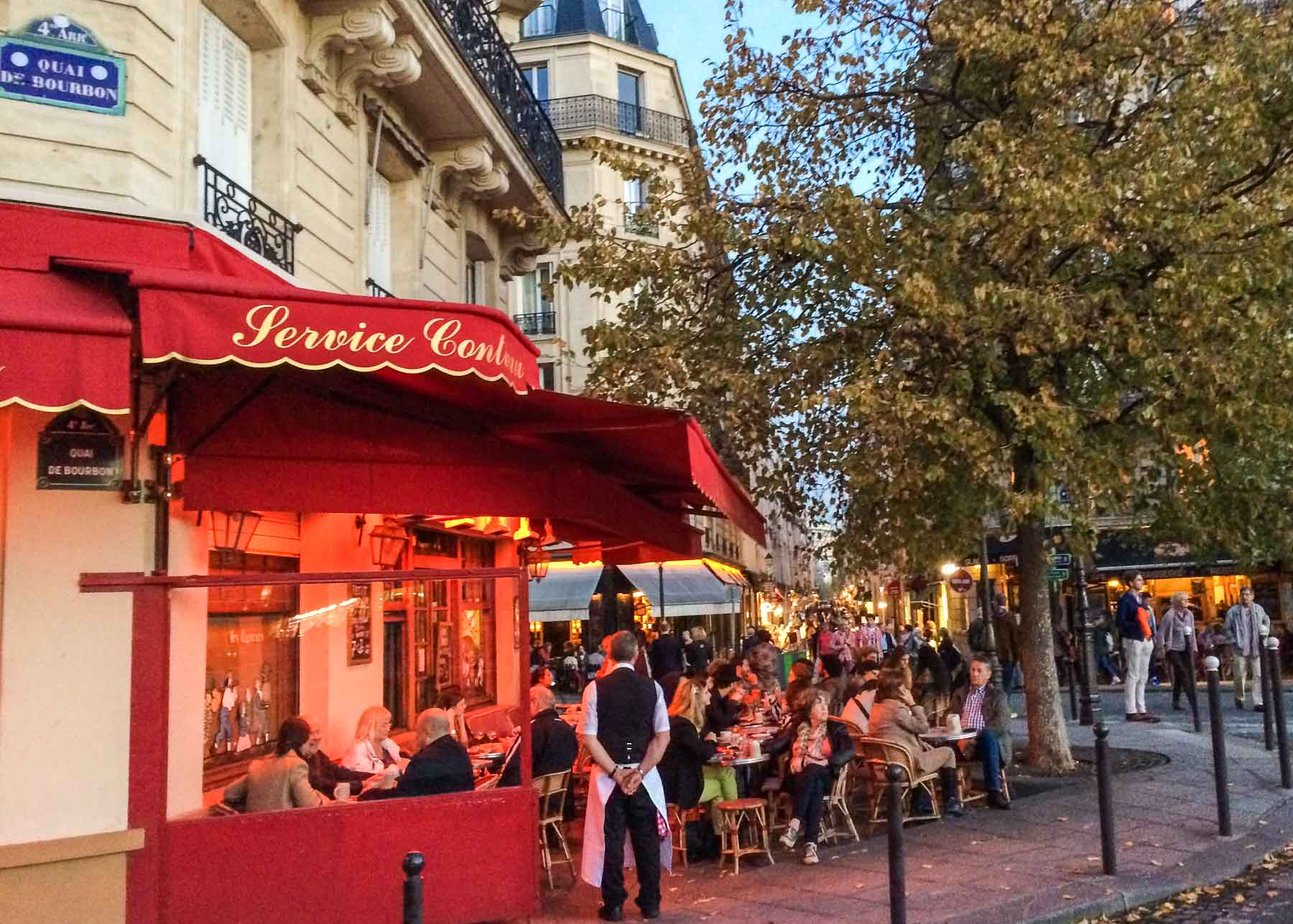 Paris cafe patio.