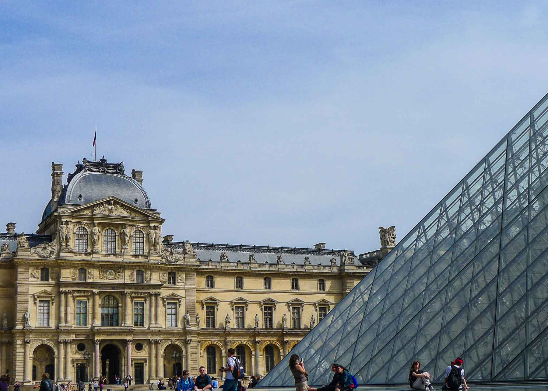 The pyramid at the Louvre.