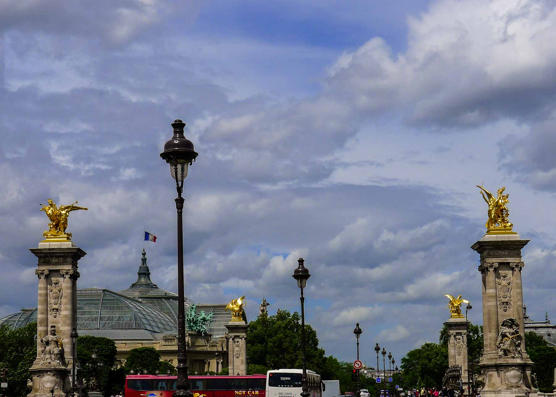 Pont Alexandre III with Grand Palais.