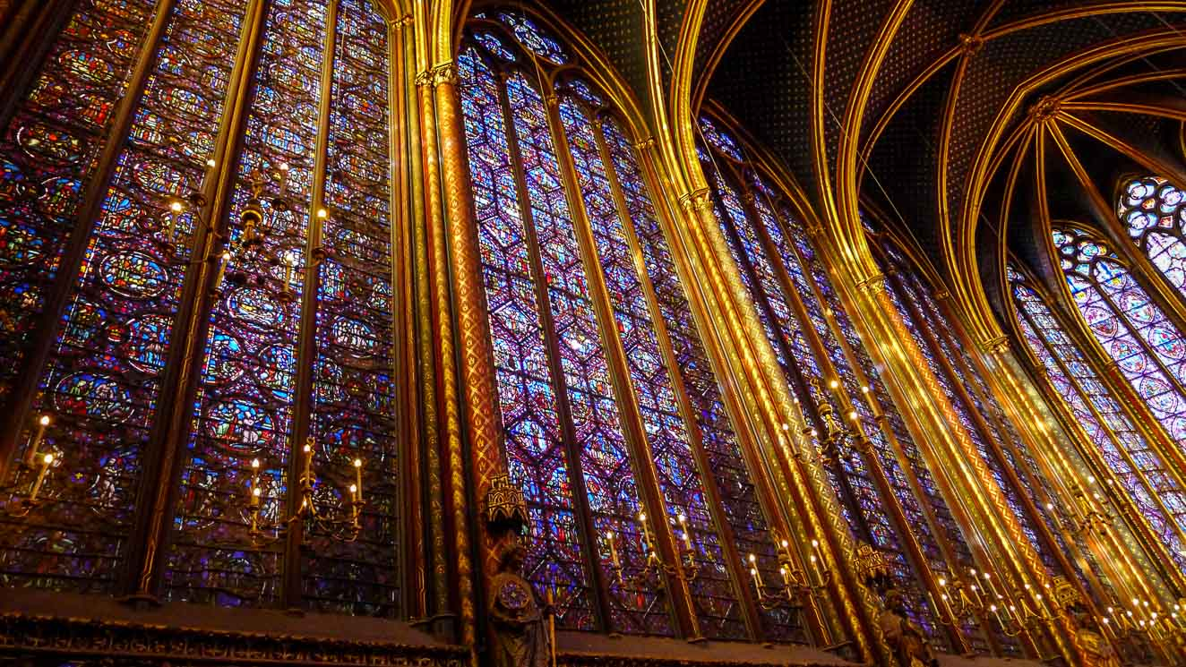 Sainte-Chapelle stained glass.