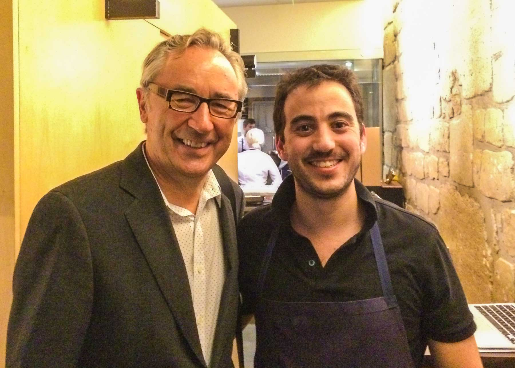 With Daniel Rose of Spring restaurant.
