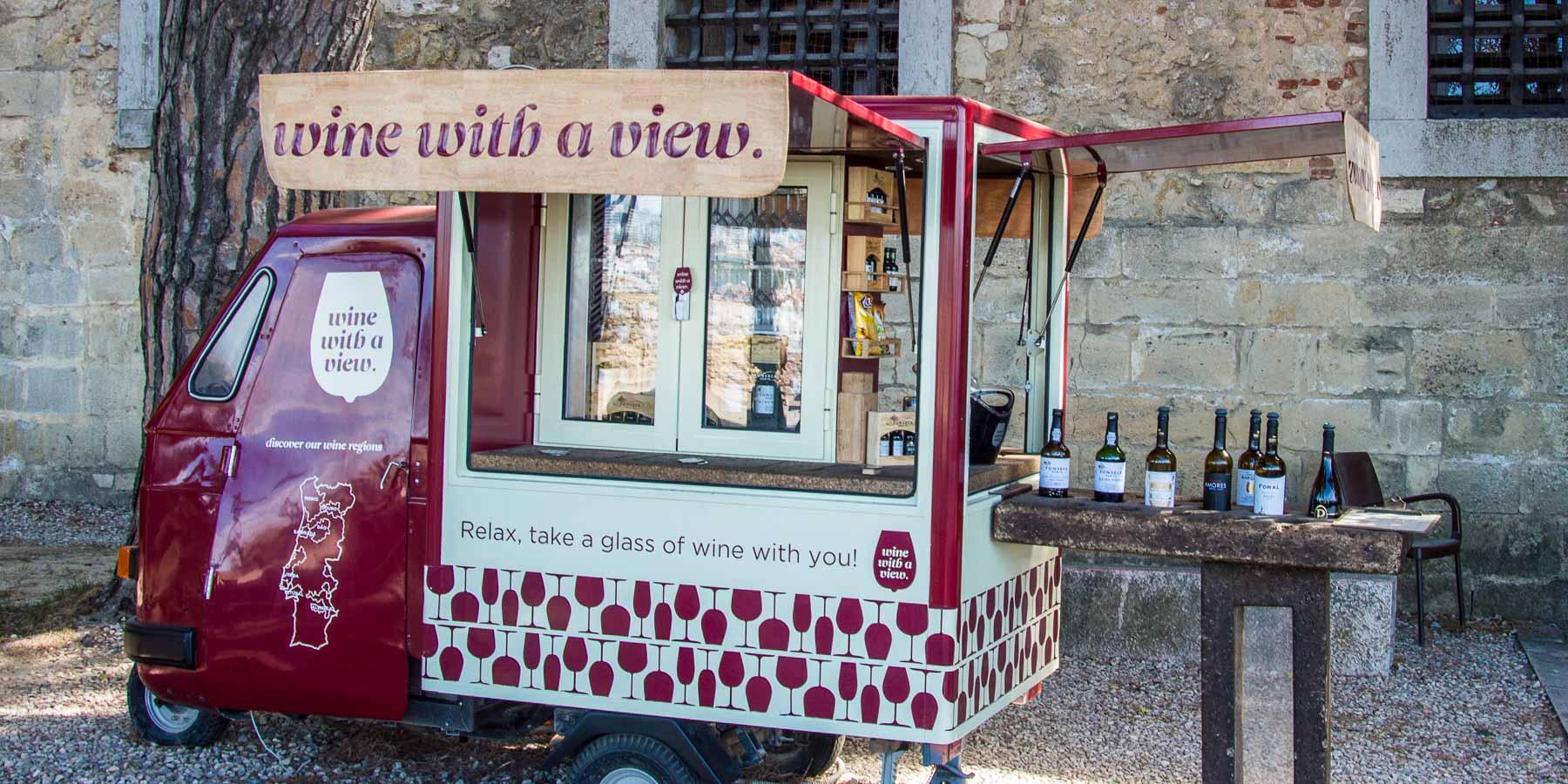 A Lisbon wine cart.