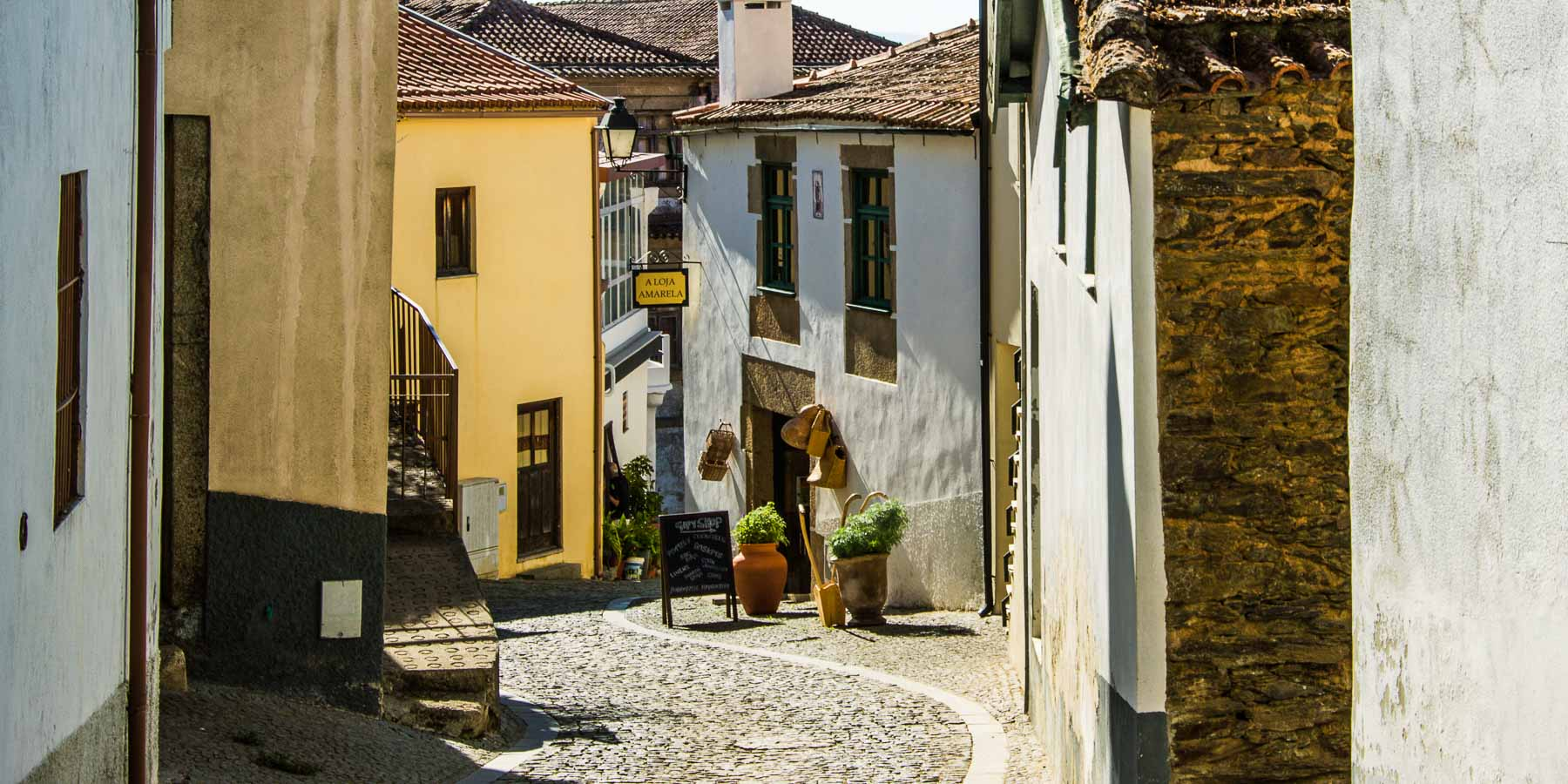 When you rent a car in Portugal, you have to be ready for small roads like this one in Provesende.