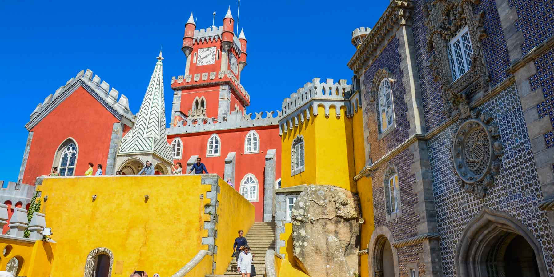 The Pena Palace in Sintra, Portugal.