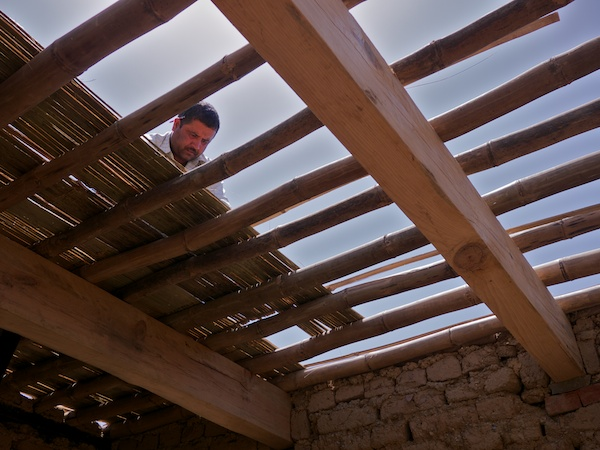 Laying the Bamboo Roof
